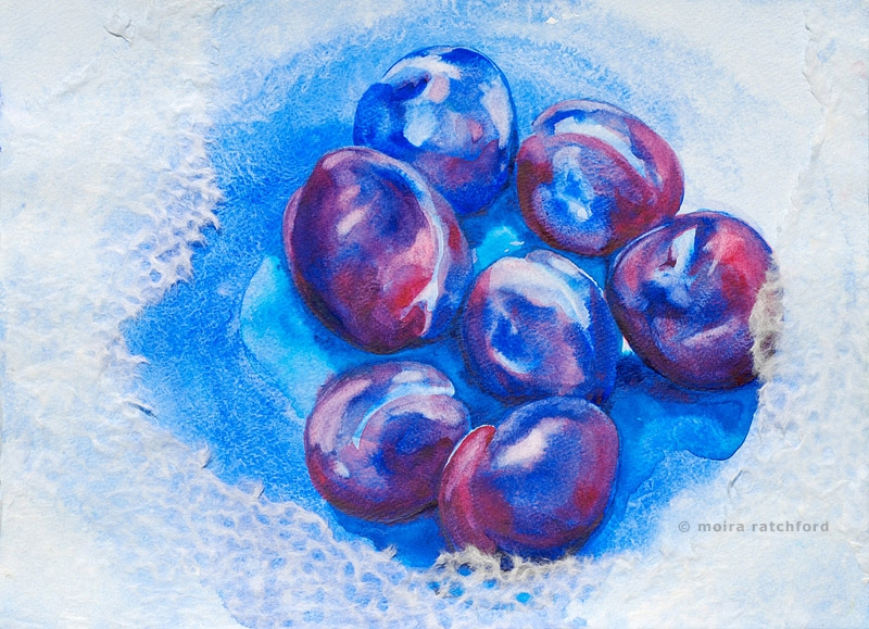 Plums in Snow